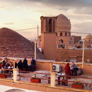 Rooftop cafe in Kashan